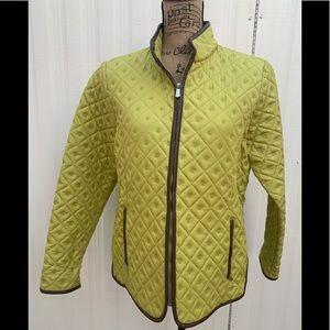 Carole Little Women's Green Quilted Blazer Jacket